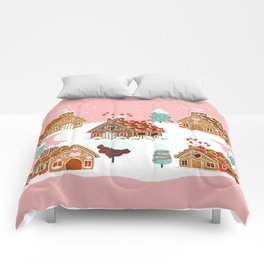 Gingerbread Village Comforters