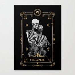 The Lovers VI Tarot Card Canvas Print