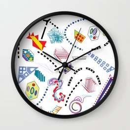 Typography in Design-Toy Pattern Wall Clock