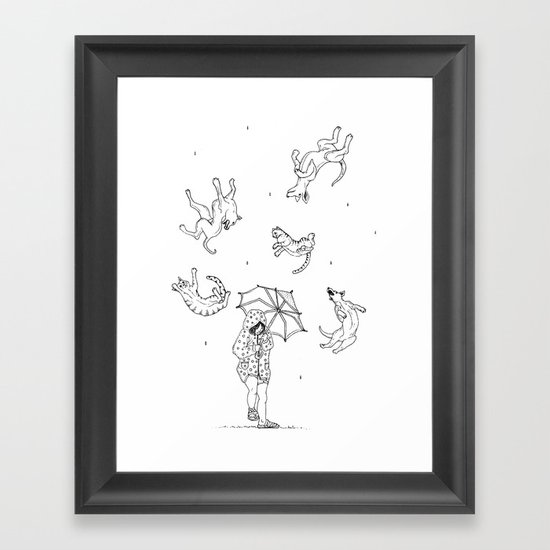 Its Raining Cats and Dogs  Framed Art Print