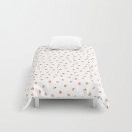 Sweet Peach Polka Dot, White Comforters