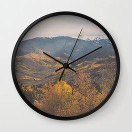 Colorado in the Fall Wall Clock