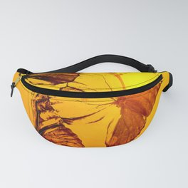 Fly fly butterfly! - Butterflies on a orange background with sunlight #society6 #buyart Fanny Pack