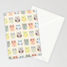 owls pattern Stationery Cards