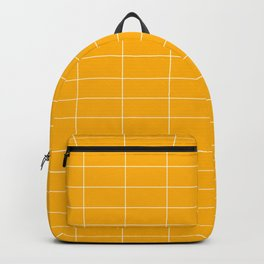 Long Grid Horitzontal Yellow Backpack