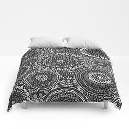 Dot Art Circles Grayscale Comforters