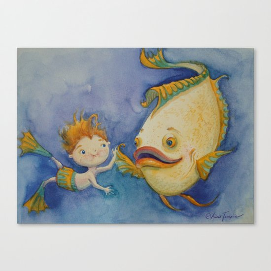 """Freshwater Friends"" Canvas Print"
