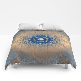Blue and gold Comforters