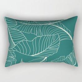 Home Palm Leaf pattern Rectangular Pillow