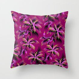 Snake Palms - Purple Throw Pillow