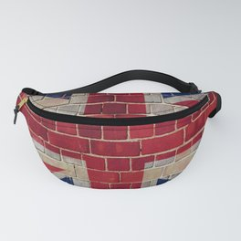 UK Union Flag on a brick wall Fanny Pack