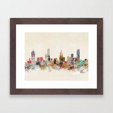 melbourne australia Framed Art Print