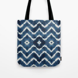 Shibori, tie dye, chevron print Tote Bag