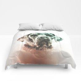 Great Dane Digital Watercolor Painting Comforters