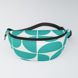 Mid Century Modern Geometric 04 Turquoise Fanny Pack