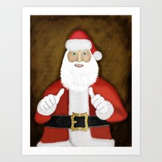 Thumbs (the Santa Claus edition) Art Print