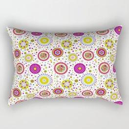 Amelia's Circles White Rectangular Pillow
