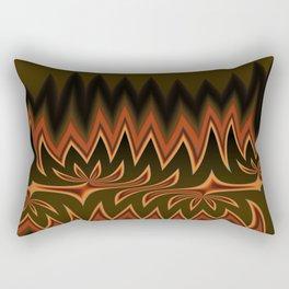 Fractal Tribal Art in Autumn Rectangular Pillow