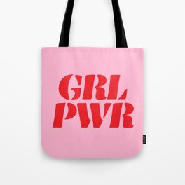 Girl Power GRL PWR Tote Bag