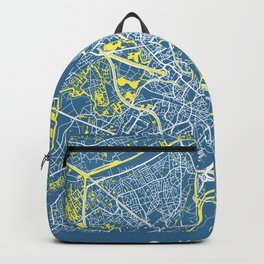GHENT Map Belgium | Blue - More Colors, Review My Collections Backpack