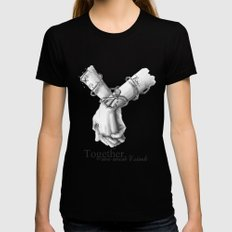 Together, we won't sink Womens Fitted Tee Black MEDIUM