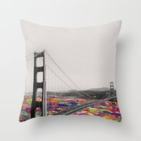 la Throw Pillows featuring It's in the Water by Bianca Green