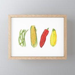 Four Veggies Framed Mini Art Print