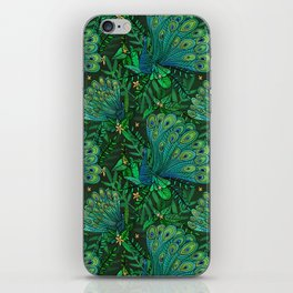 Peacocks in Emerald Forest iPhone Skin