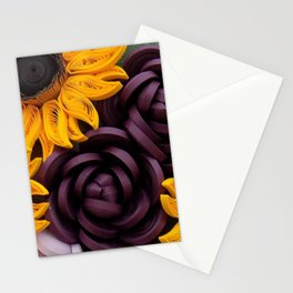 Sunflowers Roses Paper Quilled Flowers Stationery Cards