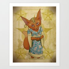 Bohemian Beasts: Fox Art Print