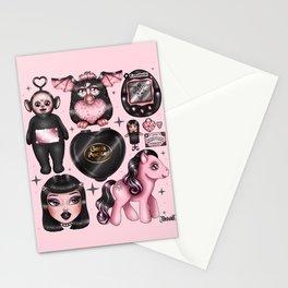 Vintage Goth Toys Stationery Cards