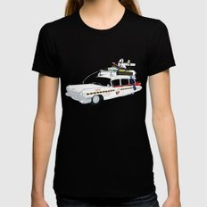 Ecto-1A Womens Fitted Tee LARGE Black