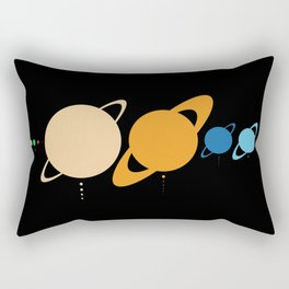 Planets And Moons To Scale Rectangular Pillow