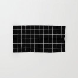 12 Grid Black White Minimal Modern Boho Hand & Bath Towel