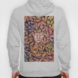 lady in leaves Hoody
