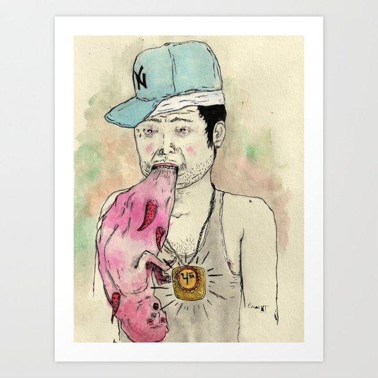 Reggaetongue Art Print