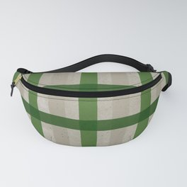 Evergreen Cozy Cabin Plaid Fanny Pack