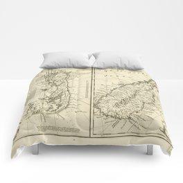 Map of Bermuda Island by Emanuel Bowen (1752) Comforters