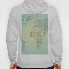 Map blue yellow gradient Hoody