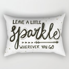 Leave A Little Sparkle Wherever You Go Rectangular Pillow