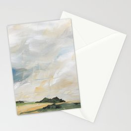 original abstract landscape painting number 7 Stationery Cards