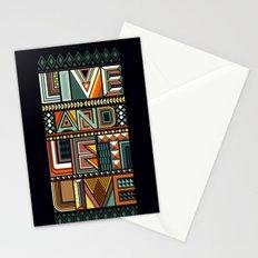 LIVE & LET LIVE Stationery Cards