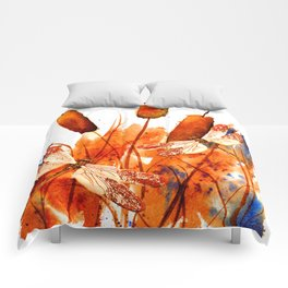 Dragonflies and Cattails Comforters