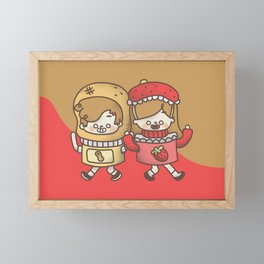 Peanut Butter and Strawberry Jelly Framed Mini Art Print
