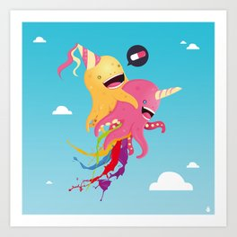 Poulpi et Licornet Art Print