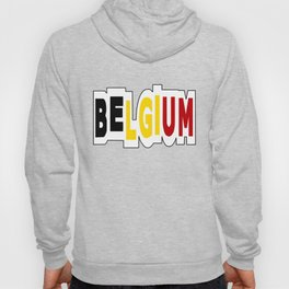 Belgium Font #1 with Belgian Flag Hoody