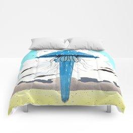 Méduse volante #3 Comforters