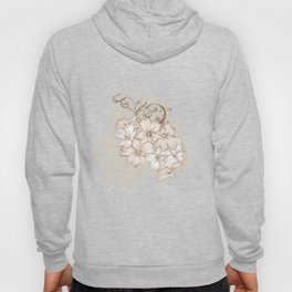 Classic pastel pattern with flowers Hoody