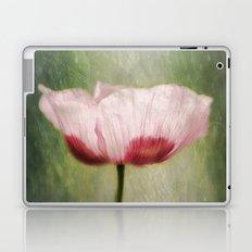 Pink poppy in grass.... Laptop & iPad Skin