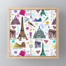 Voyage à Paris (Watercolor) Framed Mini Art Print